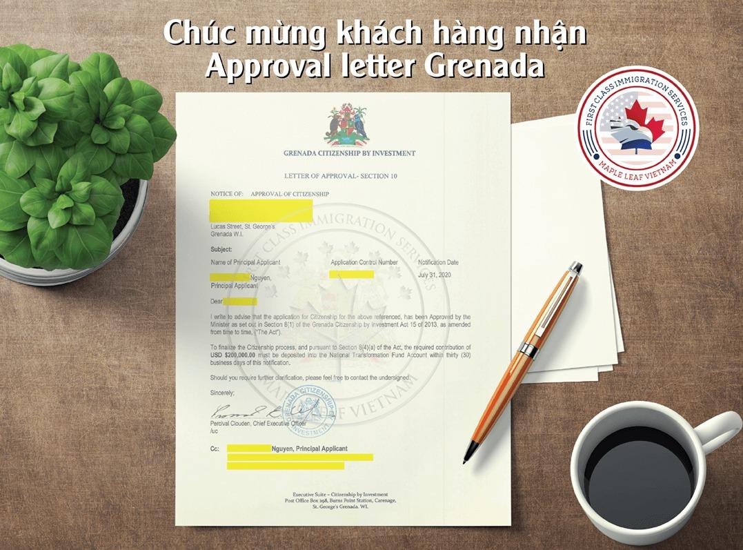 Approval Letter Grenada
